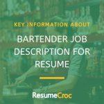 Bartender Job Descriptions
