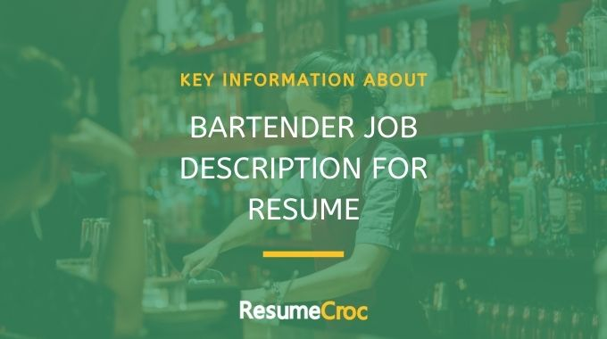 Bartender Job Descriptions