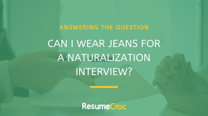 Is it appropriate to wear Jeans for a job interview?
