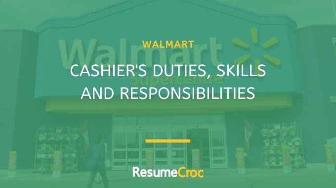Duties of Walmart cashier